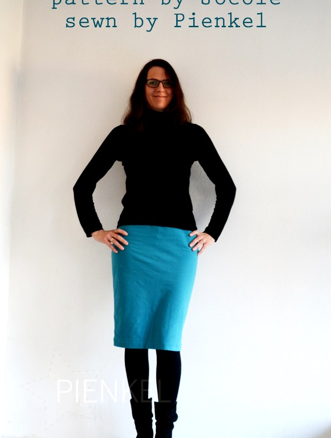 Jocole Knit Pencil Skirt, sewn by Pienkel