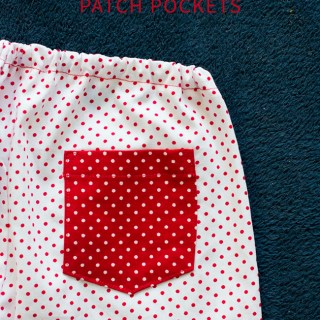 How to add patch pockets? Tutorial by Pienkel for Peek-a-Boo Pages