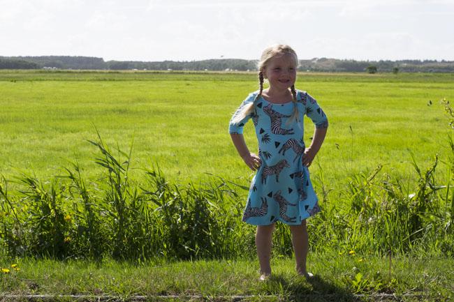 Zebra Uptown Downtown Dress - Sewn by Pienkel