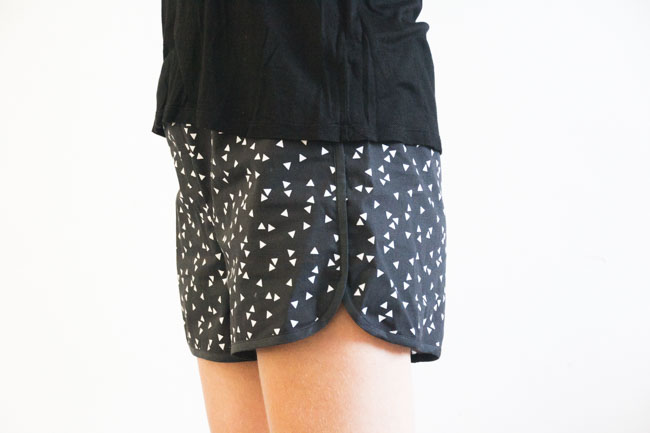 City Gym Shorts - Free Pattern by Purl Soho, sewn by Pienkel