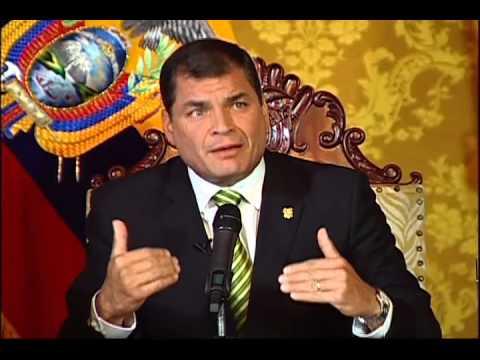 Entrevista a Rafael Correa, expresidente de Ecuador