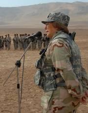 Bachelet en uniforme militar
