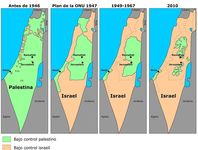 ¿Sobre qué mapa Israel quiere firmar la paz ahora?