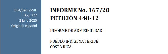 Decisión de la Comisión Interamericana de Derechos Humanos de admitir petición de comunidad indígena contra Costa Rica: breves apuntes
