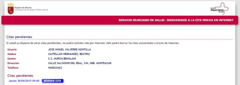 Cómo cancelar una cita a través del sistema de gestión de citas online en Murcia