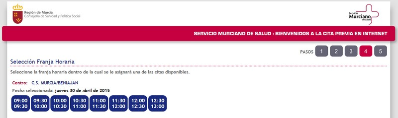 Cómo pedir cita a través del sistema de gestión de citas online en Murcia c