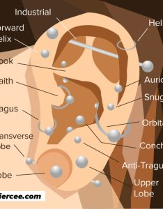Ear piercings also guide types explained pain level price photo rh piercee