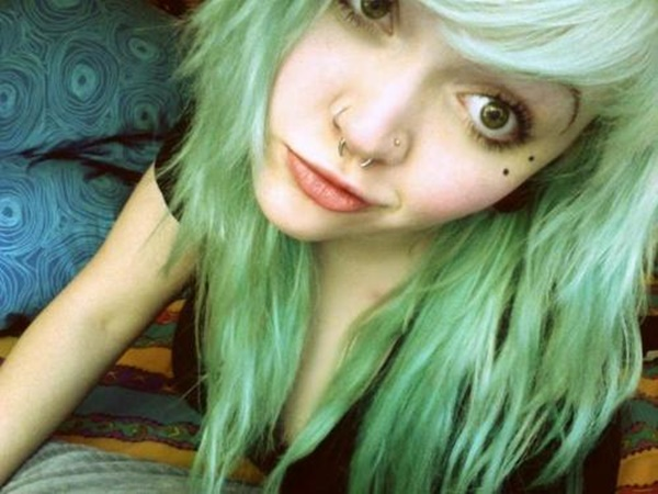 Double Sided Nose Piercing