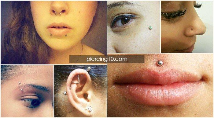tipos de piercings faciales