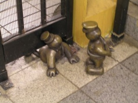 tom otterness, life underground sculptures