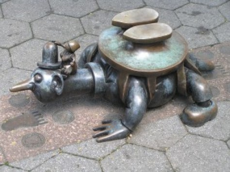 tom otterness, the real world sculptures