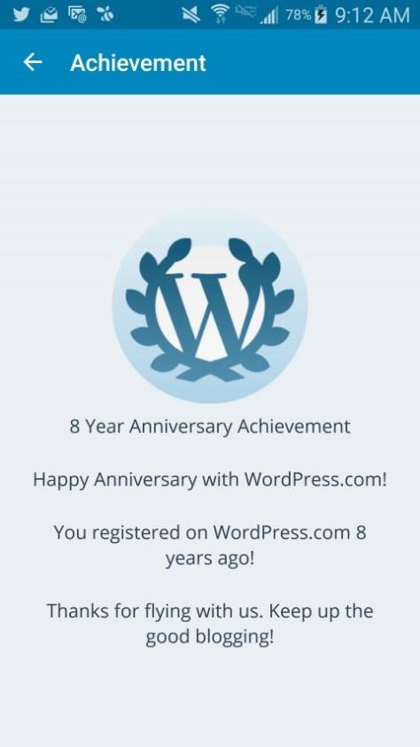 WordPress 8th Anniversary