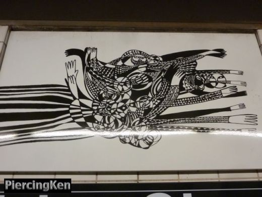 union street, subway station art