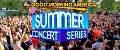 good morning america, good morning america summer concert series