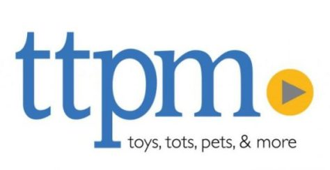 ttpm logo, toys tots pets and more logo