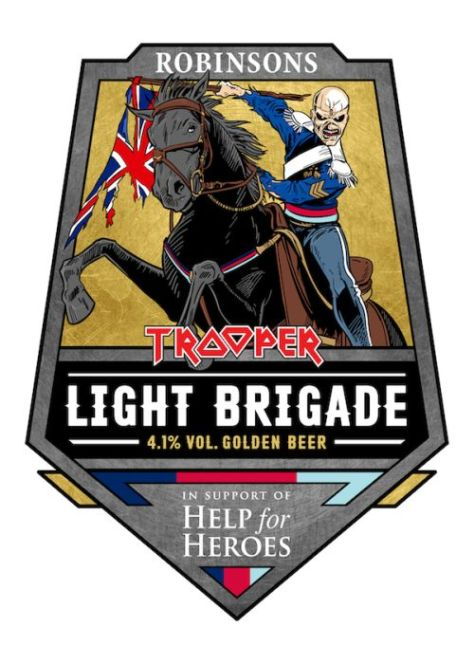robinsons brewery, iron maiden beer, iron maiden, light brigade beer