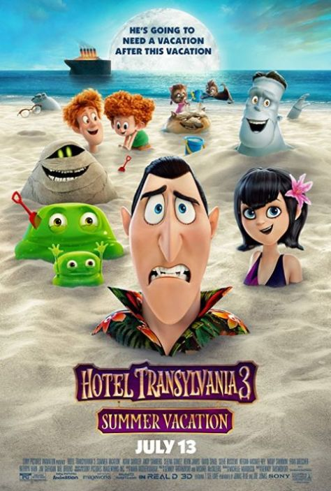 movie posters, hotel transylvania 3: summer vacation