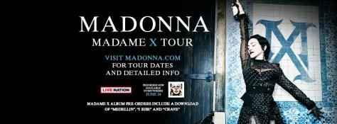tour posters, madonna, madonna tour posters, madonna madame x tour