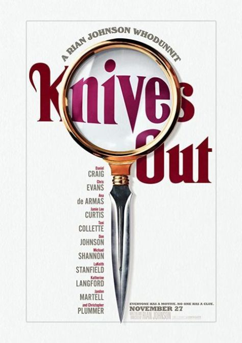 movie posters, promotional posters, lionsgate films, knives out, knives out promotional posters