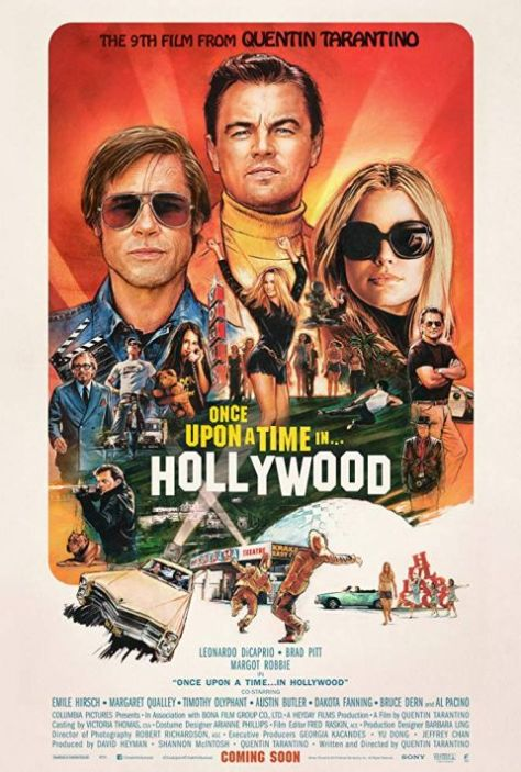 movie posters, promotional posters, sony pictures, once upon a time in hollywood