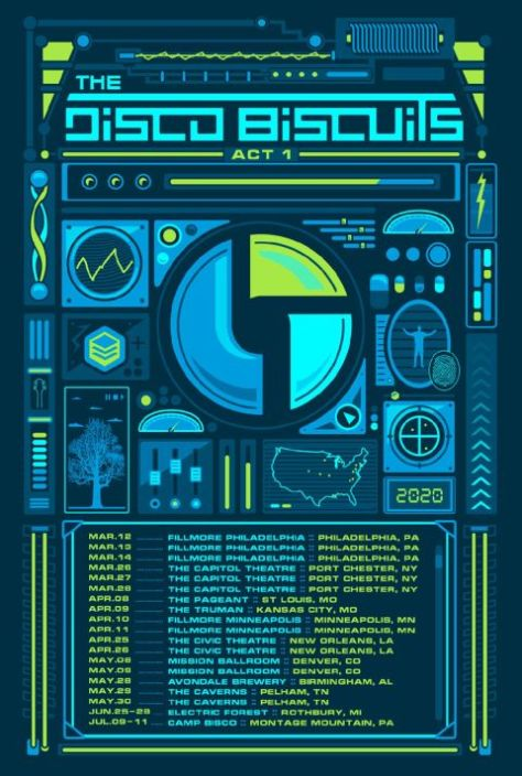 tour posters, disco biscuits, disco biscuits tour posters