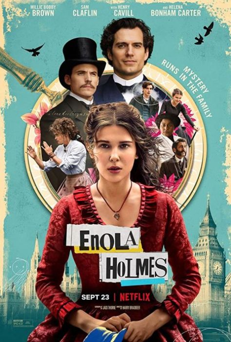 movie posters, promotional posters, netflix original, enola holmes