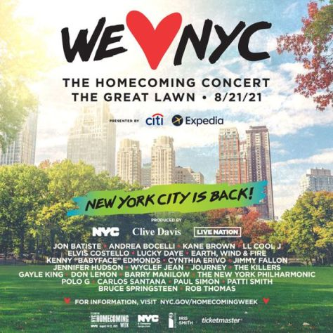 show posters, nyc the homecoming concert