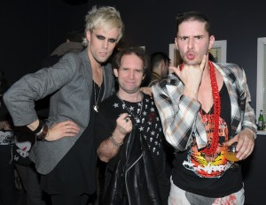 Ken Pierce and Justin and Cole from Semi Precious Weapons