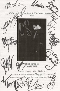 """Us"" Program Signed by Cast, Creators, & Band"