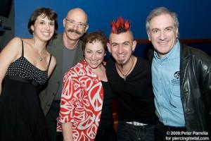 Maggie Levin, Tony Levin, Debra Barsha, John Clancy & Larry Fast