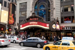 Hard Rock Cafe in Times Square Marquee