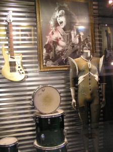 KISS Display Case - Hard Rock Cafe Atlantic City, NJ