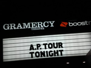 gramercy theatre marquee, the a.p. tour