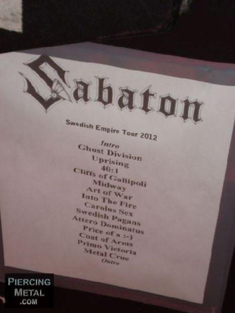 sabaton, sabaton concert photos