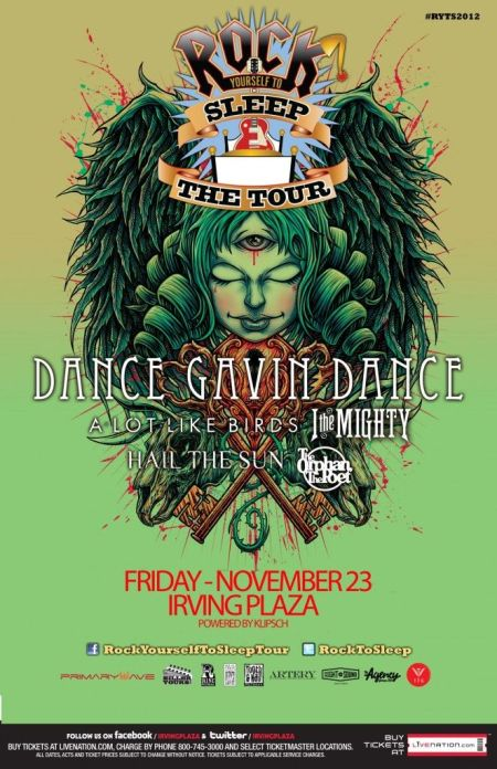 Poster - Dance Gavin Dance at Irving Plaza - 2012