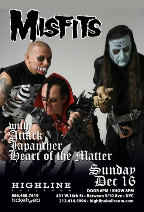 the misfits nyc concert poster, the misfits, jerry only,