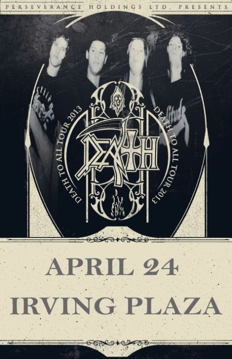 Poster - Death To All Tour at Irving Plaza - 2013