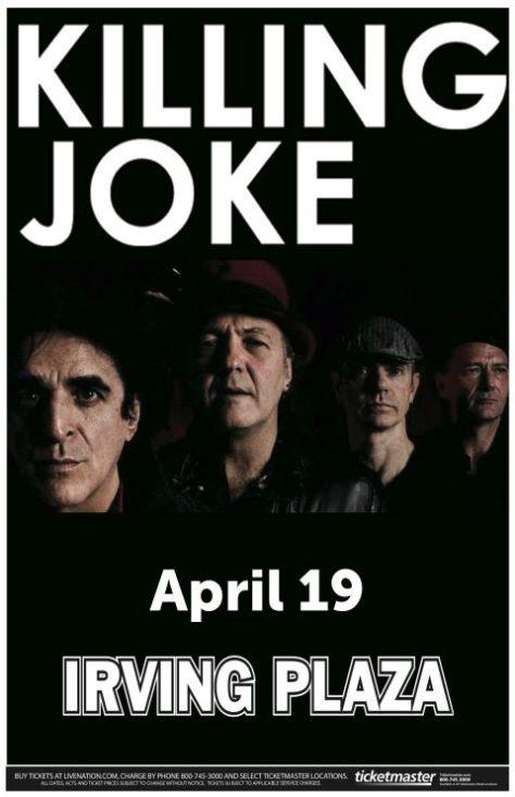 Poster - Killing Joke at Irving Plaza - 2013