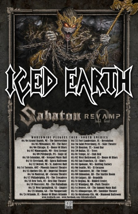 Tour - Iced Earth - 2014