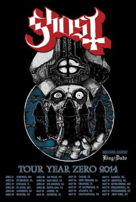 Tour - Ghost - Year Zero 2014