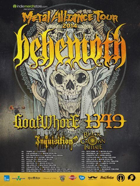 Tour - Metal Alliance - 2014