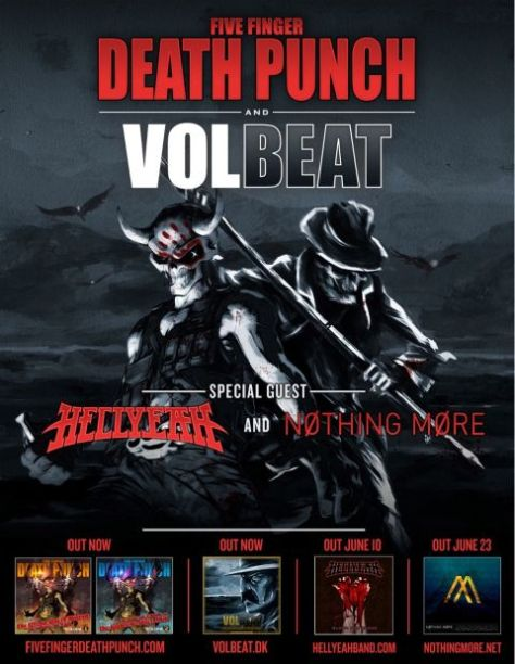 Tour - FFDP Volbeat - 2014