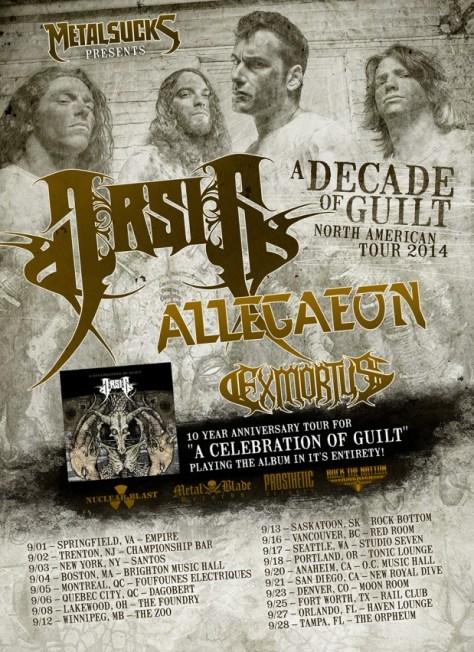 Tour - Arsis - Headline 2014