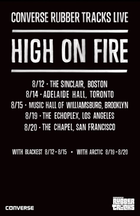 Tour - High On Fire - Converse 2014