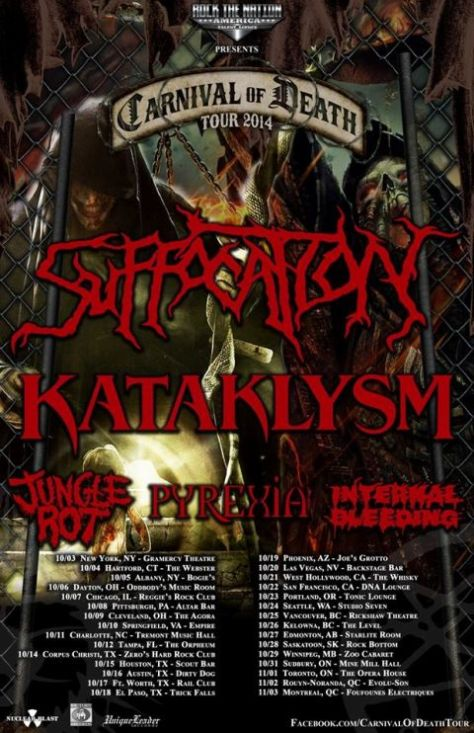 tour posters, carnival of death