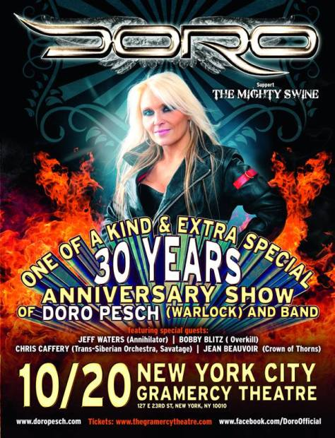 Poster - Doro at Gramercy Theatre - 2014