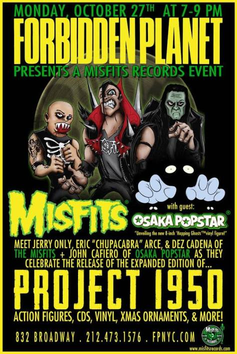 Poster - Misfits Signing at Forbidden Planet - 2014