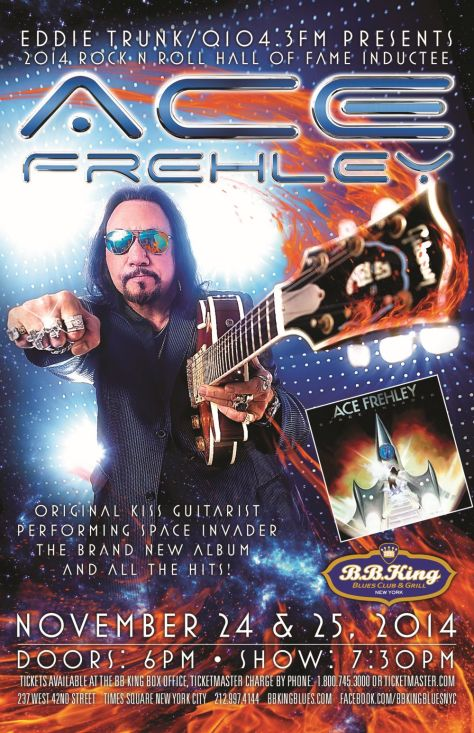 Poster - Ace Frehley at BB Kings - 2014