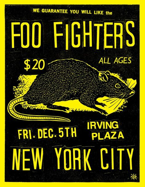 Poster - Foo Fighters at Irving Plaza - 2014