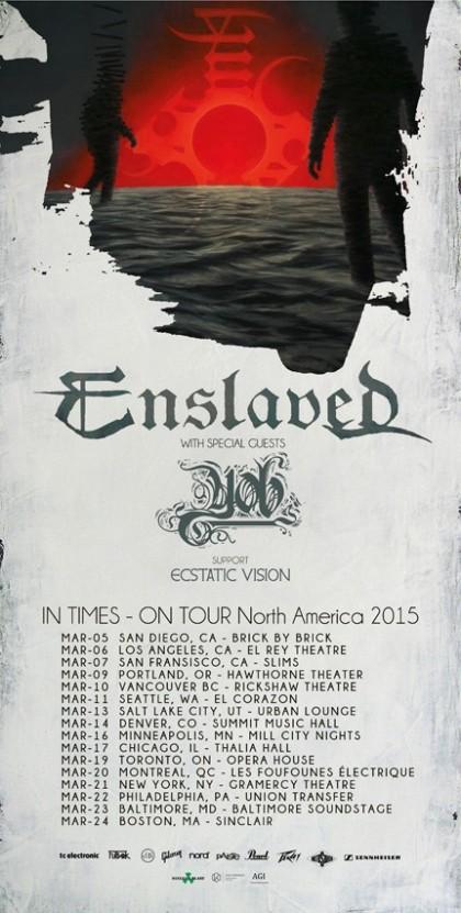 Tour - Enslaved - 2015